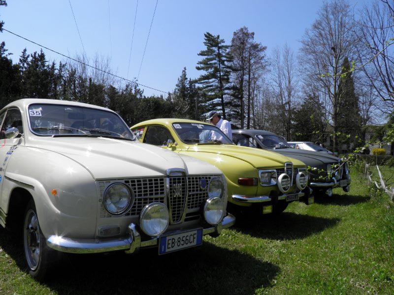 Alcune Saab alla Coppa dei Tre Fiumi