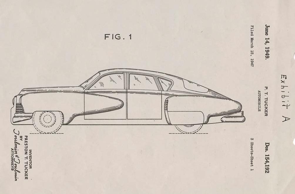 Tucker 48 disegno
