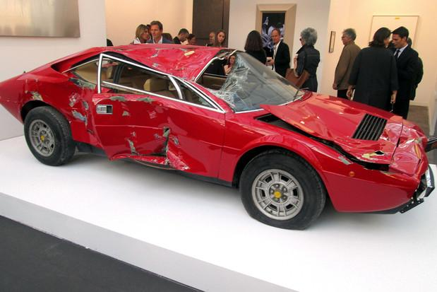 Ferrari-Dino-crashed-FIAC-art