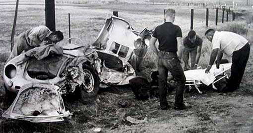 Porsche 550 dopo l'incidente 2