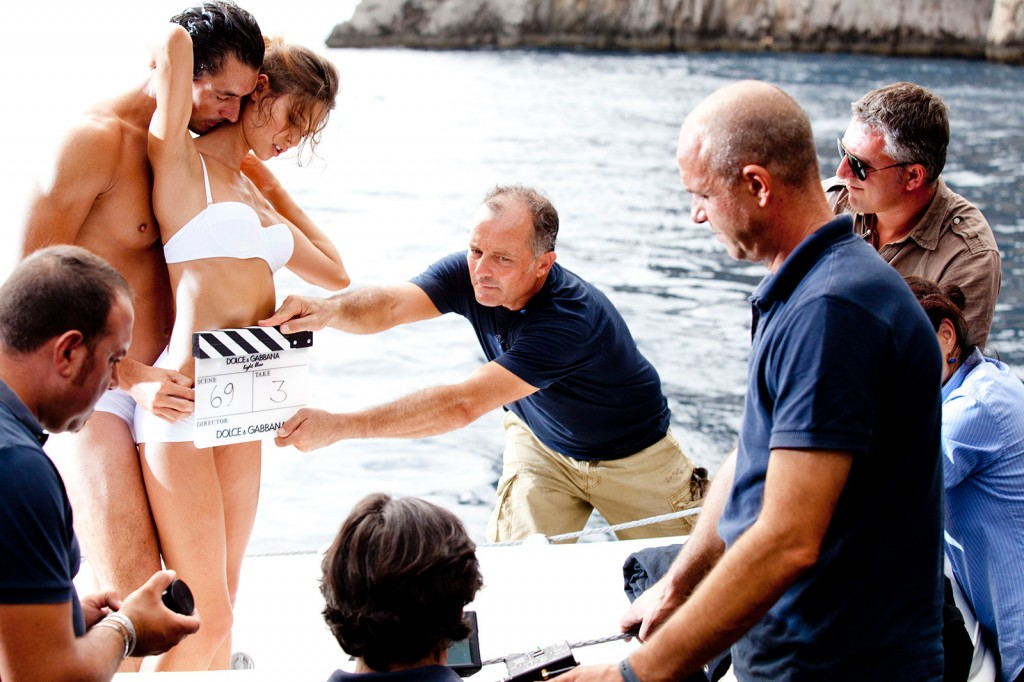 dolce-and-gabbana-light-blue-ad-campaig-david-gandy-bianca-balti-the-ciak-backstage