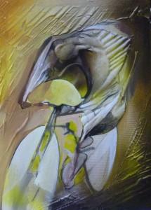 ciclista giallo