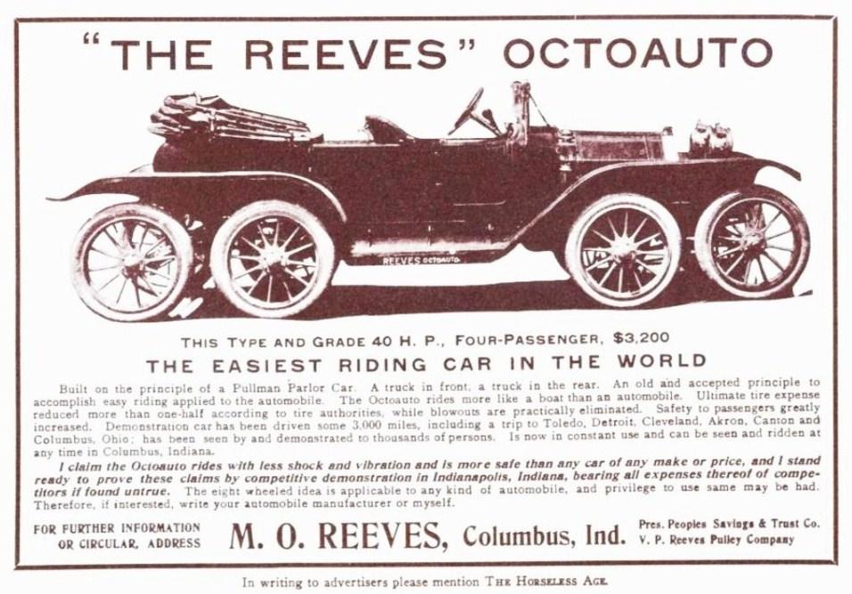 """La pubblicità della """"The Reeves"""" Octoauto, 1910"""