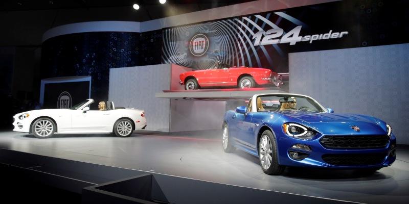 La presentazione della nuova Fiat 124 Spider a Los Angeles, nel 2015