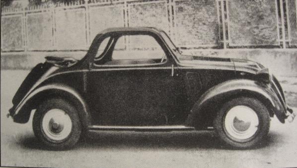 """Fiat 500 """"Topolino"""" A Accossato a quattro posti, 1949"""