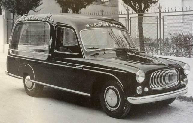Fiat 1400 carro funebre Accossato, 1951