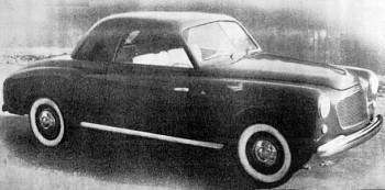 Fiat 1400 Rondine Coupè, 1950